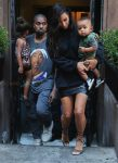 Kim Kardashian and Kanye West step out in NYC with kids North and Saint West