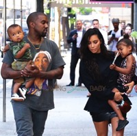 Kim Kardashian & Kanye West Step Out For Ice Cream With Their Kids in NYC