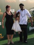 Marcus Henderson with his family at Pete's Dragon Premiere in Hollywood