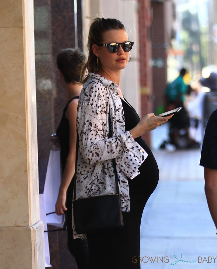 Pregnant Behati Prinsloo At The Doctors Office