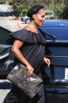 Pregnant Kerry Washington arrives at INSTYLE 'Day of Indulgence Party'