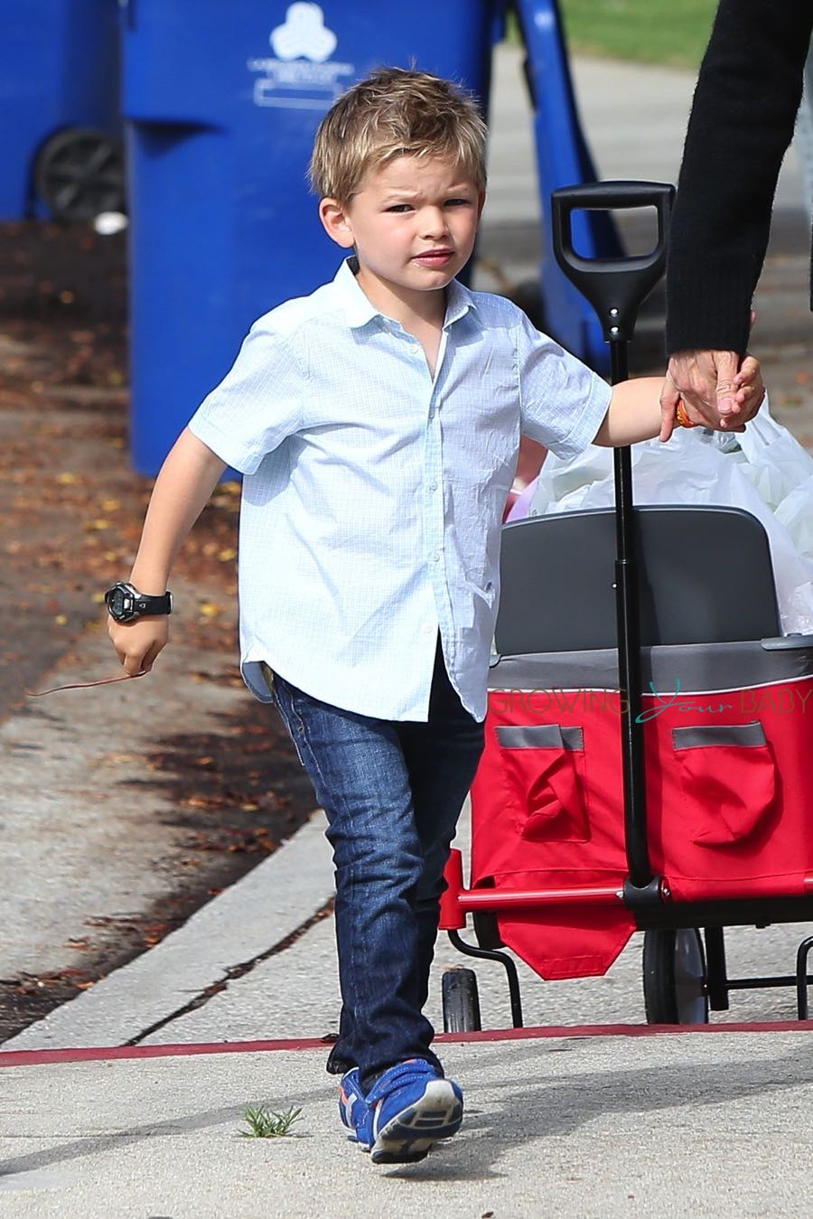 Sam Affleck At The Market Growing Your Baby