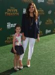 Tiffani Thiessen with her daughter Harper Smith at Pete's Dragon Premiere in Hollywood