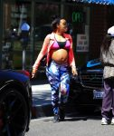 pregnant Angela Simmons shows off her growing belly in LA