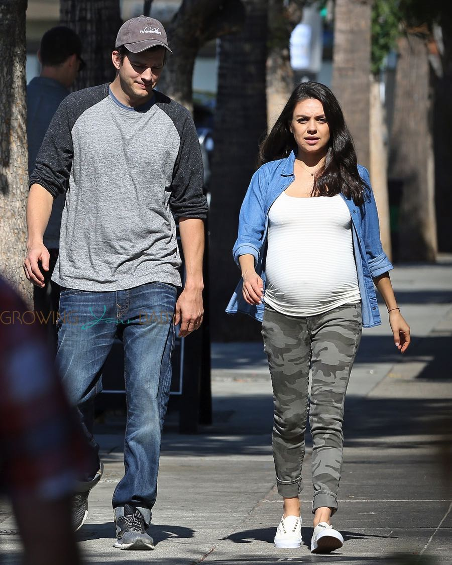 Ashton Kutcher and pregnant wife Mila Kunis out in LA