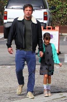Ben Affleck arrives at church with daughter Seraphina