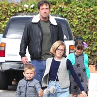 Ben Affleck Steps Out With His Kids
