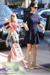 Jennifer Garner arrives at church with her kids