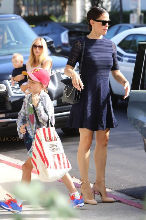 Jennifer Garner arrives at church with her kids