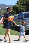 Jennifer Garner leaves church with son Sam