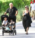 Kelsey Grammer and Kayte Walsh with their kids Faith and Kelsey