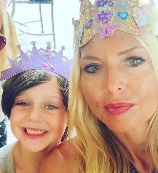 Rachel Zoe and her son Sklyer on her Birthday.