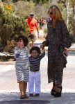 Rachel Zoe with son Kai and Skyler at the malibu Chili Cook out