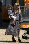 Rachel Zoe with son Kai at the malibu Chili Cook out