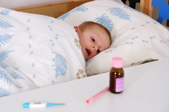 sick child anti-biotics