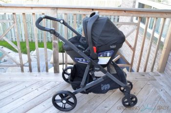 2017 Britax B-Ready with an infant seat