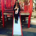 Chrissy Teigen at the park with daughter Luna