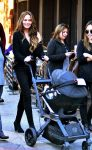 Chrissy Teigen out in NYC with friends and daughter Luna Legend