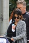 Hilaria Baldwin out in NYC with husband Alec Baldwin and son Leo