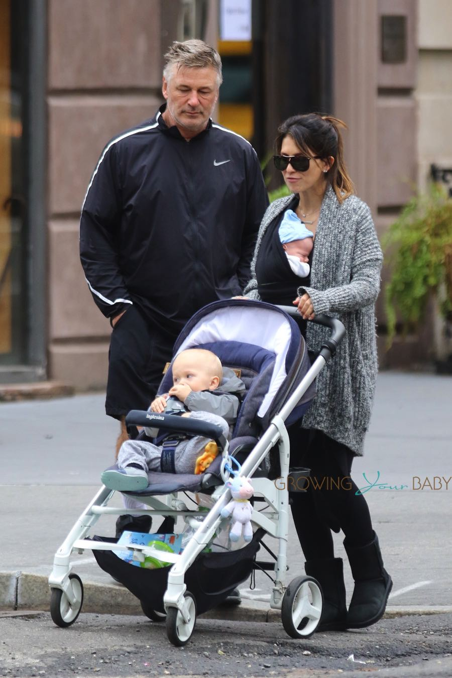 Hilaria and Alec Baldwin out in NYC with sons Leo and Rafael
