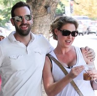 Josh Kelley and A Pregnant Katherine Heigl Grab A Bite in LA