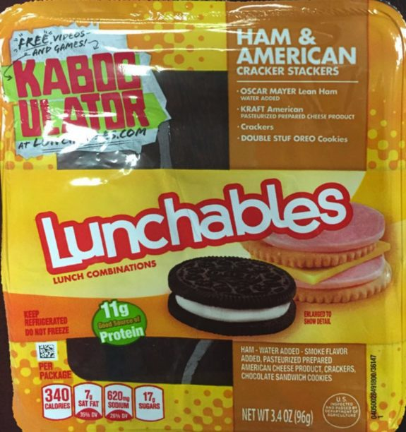 Lunchables recall 2016