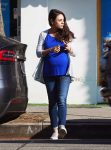 Pregnant Mila Kunis Runs Errands in LA