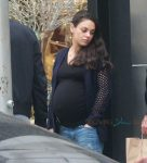 pregnant mila kunis out in LA