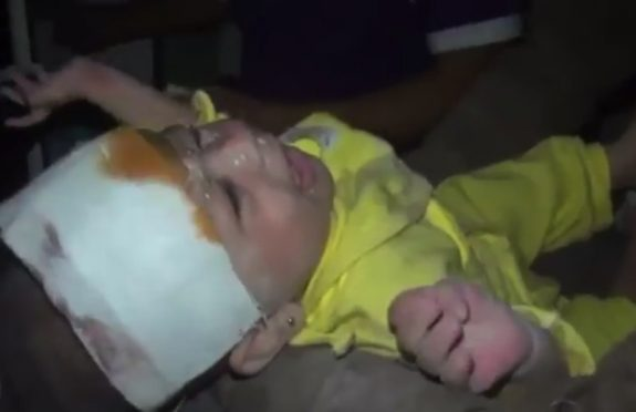 baby rescued from the rubble syria