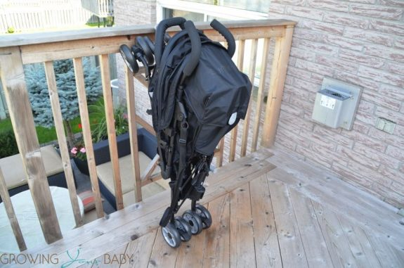 Summer Infant 3Dtwo Double Convenience Stroller - folded