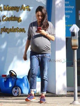 A Very Pregnant Mila Kunis steps out in LA - November 2016