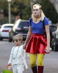 Ava Phillippe out for halloween 2016 with brother tennessee
