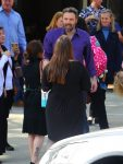Ben Affleck leaves church with Seraphina and Sam