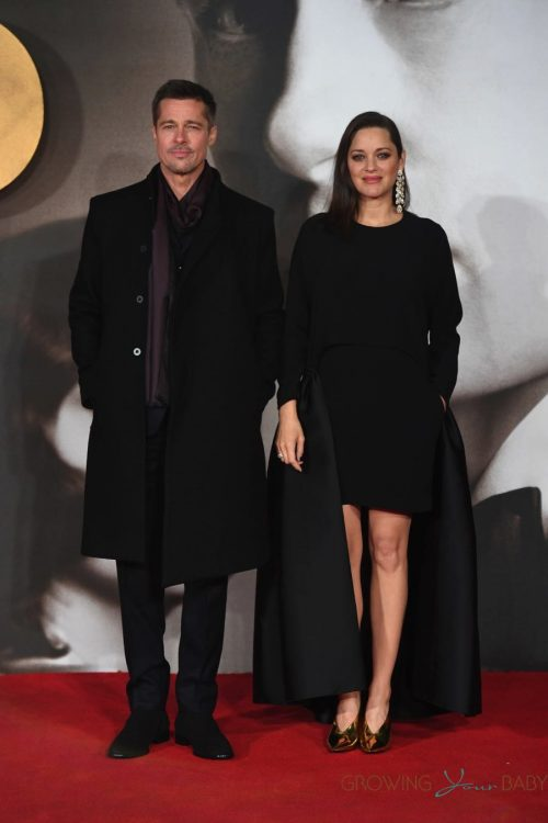 Brad Pitt and Marion Cotillard at 'Allied' Premiere held at the Odeon Leicester Square