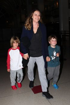 Brooke Mueller heads out of town with Bob and Max Sheen 2014
