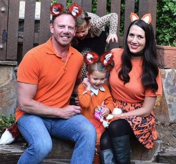 Erin and Ian Ziering get ready for Halloween with daughters Mia and Penna