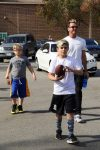 Gaviin Rossdale out with his kids in LA