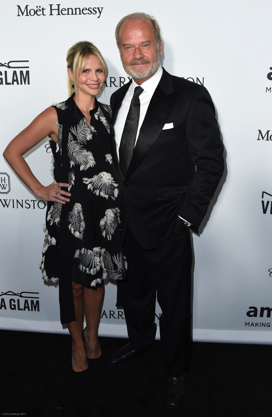 Kelsey Grammer and pregnant wife Kayte at the amfAR Inspiration Gala 2016