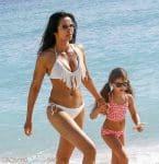 Padma Lakshmi & Her Daughter Krishna Dell Enjoy A Beach Day In Miami