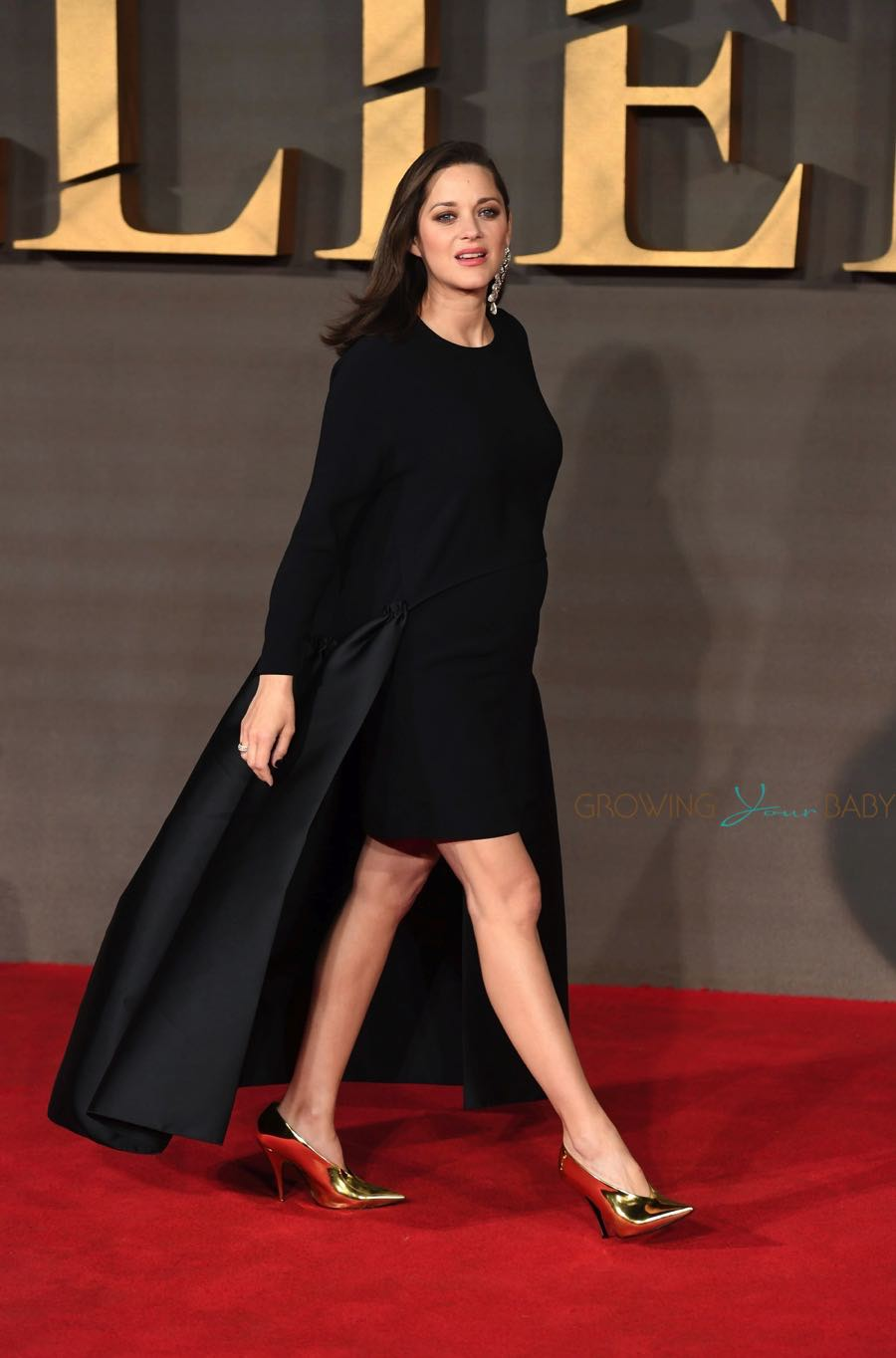 Pregnant Marion Cotillard at 'Allied' Premiere held at the Odeon Leicester Square