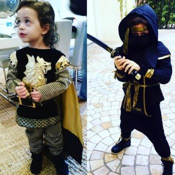 Rachel Zoe's boys out for Halloween