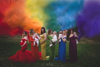 Six Moms Pose For Beautiful Photo To Celebrate Their 'Rainbow Babies'