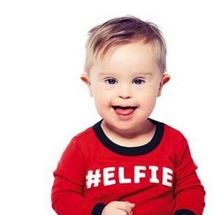 Toddler with Down Syndrome Models, Inspires