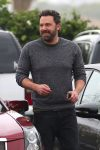 Ben Affleck arrives at church with his family