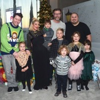 Celebrity Families Attend 6th Annual Santa's Secret Workshop!