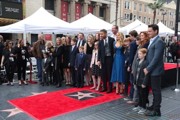 Blake Lively and Ryan Reynolds pose with their family
