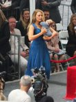 Blake Lively at husband Ryan Reynolds Walk of Fame ceremony with newborn daughter