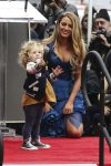 Blake Lively at the Walk of Fame ceremony with daughter James Reynolds