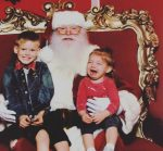 Hilary duff's son Luca and niece visit Santa at the Grove LA