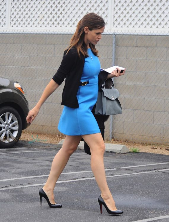 Jennifer Garner arrives at church with her family